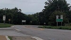 U.S. Route 62 in Arkansas - US 62 near the Oklahoma border