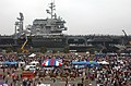 US Navy 030602-N-8421M-122 Family and friends of Sailors and Marines gather at Naval Air Station North Island to show their support as USS Constellation (CV 64) returns to her homeport of San Diego, Calif.jpg