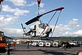 US Navy 040215-M-3980Y-005 U.S. Marines offload an AH-1WSuper Cobra helicopter gunship from the High Speed Vessel (HSV) Westpac Express to support Balikatan Exercise 2004.jpg