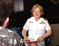 US Navy 040517-N-0000W-164 Rear Adm. Nancy J. Lescavage, Navy Nurse Corps Director, is interviewed on Yokosuka's HealthScope television show.jpg