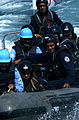 US Navy 041006-N-3503M-001 Sailors from the Indian Navy destroyer INS Mysore (D 60), prepare to embark the guided missile cruiser USS Cowpens (CG 63) during a Visit, Board, Search and Seizure (VBSS) exercise.jpg