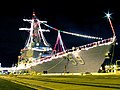 US Navy 071224-N-1008D-004 Guided missile destroyer USS Russell (DDG 59) displays a brilliant spectacle of holiday lights.jpg