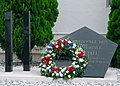 US Navy 080911-N-2013O-003 A wreath is placed on top of the 9-11 Memorial during a memorial ceremony in front of the Fleet Activities Yokosuka Chief Petty Officer's Club.jpg