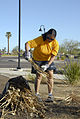 US Navy 100327-N-2389S-048 Yeoman 1st Class Lisa Collars, assigned to the Navy Operational Support Center Phoenix, participates in a community relations project during Phoenix Navy Week.jpg