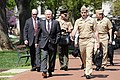 US Navy 100407-D-7203C-002 Secretary of Defense Robert M. Gates, front left, walks to King Hall to have lunch with the midshipmen at the U.S. Naval Academy in Annapolis, Md.jpg