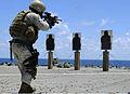 US Navy 100409-N-7478G-250 Sgt. Jason Manasan, assigned to Fleet Antiterrorism Security Team, 1st Company, embarked aboard the U.S. 7th Fleet command ship USS Blue Ridge (LCC 19).jpg