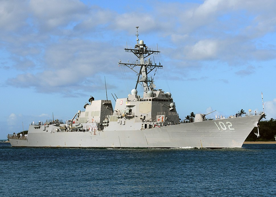 US Navy 100624-N-6854D-908 USS Sampson (DDG 102) pulls into Joint Base Pearl Harbor-Hickam, Hawaii, to support RIMPAC 2010