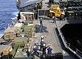 US Navy 110314-N-6692A-124 Sailors move a forklift aboard the amphibious dock landing ship USS Germantown (LSD 42).jpg