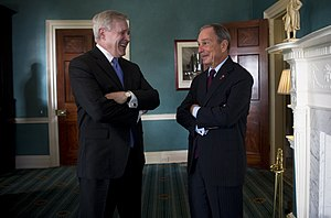 Michael Bloomberg - Secretary of the Navy (SECNAV), Ray Mabus with Bloomberg