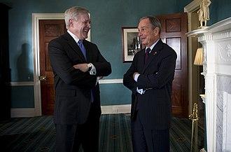 Michael Bloomberg - Secretary of the Navy (SECNAV), Ray Mabus with Bloomberg
