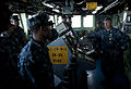 US Navy 110804-N-DR144-174 Master Chief Petty Officer of the Navy (MCPON) Rick D. West talks with Sailors aboard USS Chief (MCM 14).jpg