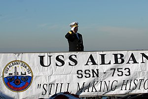 US Navy 111214-N-NK458-035 Rear Adm. Barry L. Bruner prepares to board the Los Angeles-class attack submarine USS Albany (SSN 753) for a change of.jpg