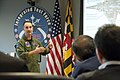 US Navy 120120-D-BW835-022 Secretary of Defense Leon E. Panetta receives a brief from Captain (USN) Erik.jpg