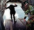 US Navy 990520-N-9593R-032 EODMU-2 members jump out of HH-46D Sea Knight.jpg