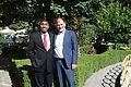 US Senate lobbyist Cary Lee Peterson & Albania Deputy MP Koco Kokedhima 001.jpg