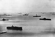 US fleet at Majuro Atoll 1944