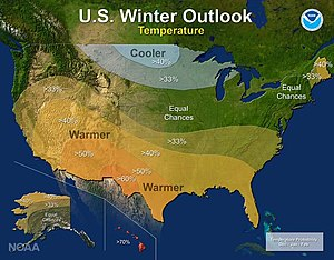 2016–17 North American winter - Temperature Outlook
