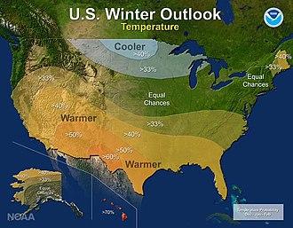 2016–17 North American winter - Temperature Outlook