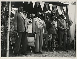Ugandan kings at Toro ceremony late 1950s.jpg