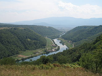 Una (Sava) - Una (view from Brekovica towards Bihać)