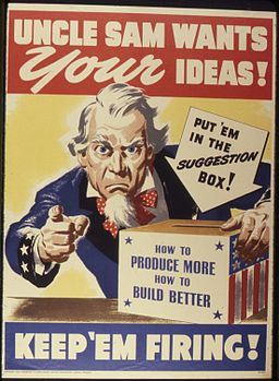 Uncle Sam Wants Your Ideas^ Keep 'Em Firing - NARA - 534244
