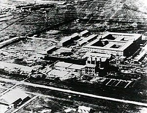 Unit 731 - The Unit 731 complex: two prisons are hidden in the center of the main building.