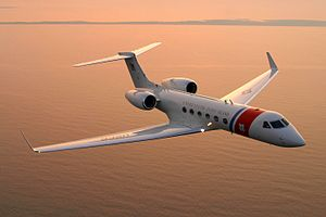 Gulfstream V - USCG C-37A in flight