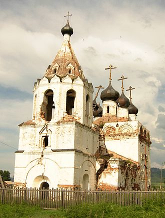 Transbaikal - The oldest building in the region is the Dormition Church, built 8 km from Nerchinsk in 1706-12.