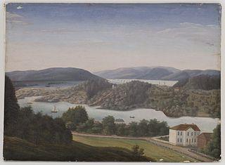 Utsikt fra Schafteløkken mot Bygdøy