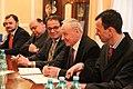 V.Dombrovskis tiekas ar Moldovas prezidentu Nikolaju Timofti (8492090400).jpg