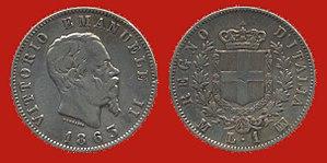 Italian lira - Vittorio Emanuele II