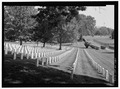 VIEW FROM SECTION A TOWARDS FLAGPOLE. VIEW TO NORTH. - Salisbury National Cemetery, 202 Government Road, Salisbury, Rowan County, NC HALS NC-2-12.tif