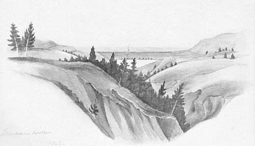 VIEW ON THE MISSOURI RIVER, ABOVE GREAT BEND. - Audubon Journal.jpg
