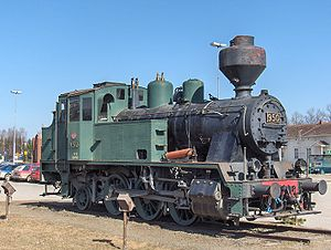 Joensuu -  Class Vr2 steam locomotive no. 950, outside Joensuu railway station