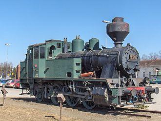 Joensuu -  Class Vr2 steam locomotive no. 950, outside Joensuu railway station