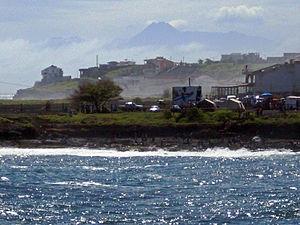 Palmarejo - Palmarejo from Quebra Canela along with the view of Fogo Island