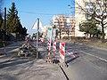 V korytech, výstavba zálivu v zastávce Jesenická (01).jpg