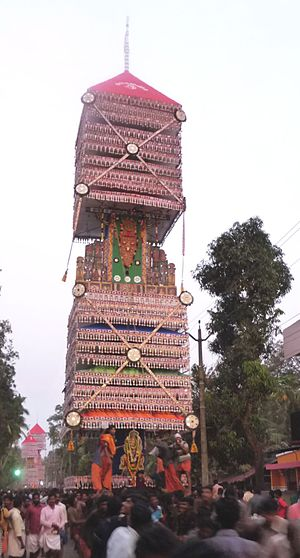 Valiyakulangara Devi Temple - One of the kettukazhcha's at Aswathi festival