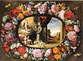 Van der Hamen y León - Girlande mit Vision des Heiligen Antonius.jpg