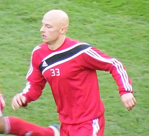 József Varga (footballer, born 1988) - Varga playing for Debrecen