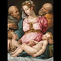 Vasari (workshop of) - Holy Family with the Infant Saint John the Baptist and Saint Francis, after 1544.jpg