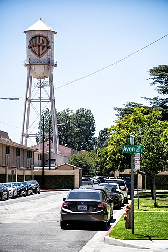 Warner Bros. Studios, Burbank - The WB water tower at Warner Bros. Studios, Burbank