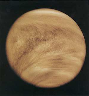 Life on Venus - The atmosphere of Venus as viewed in ultraviolet by the Pioneer Venus Orbiter in 1979.