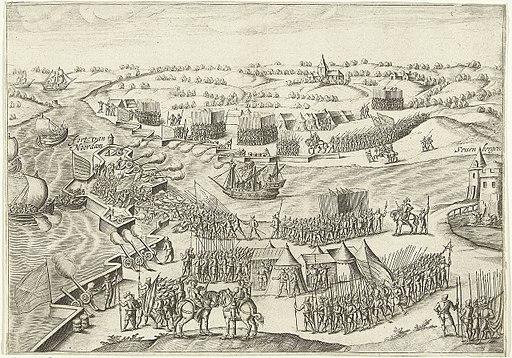 Verdediging van de schans of fort Noordam bij Zevenbergen in 1590 door het Staatse leger onder Matthijs Helt tegen het Spaanse leger onder graaf Karel van Mansfeld (Bartholomeus Willemsz. Dolendo)