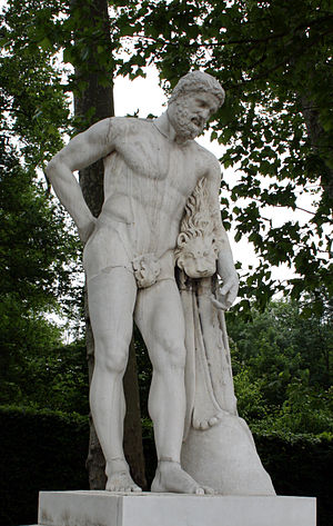 Jean Cornu - Cornu's Farnese Hercules at the Palace of Versailles.
