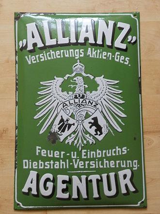 Allianz - Image: Versicherungsschild der Allianz