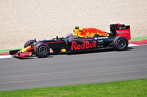 2016 Austrian Grand Prix - Max Verstappen qualified only ninth but fought his way up to second in the race.