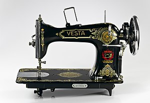 Vesta sewing machine (L.O. Dietrich Altenburg)