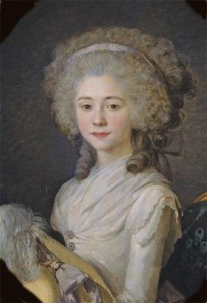 Étienne-Charles de Damas-Crux - Anne-Félicité-Simone de Sérent by Antoine Vestier, 1788.