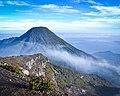 View Mt Gede Pangrango from Mt Gede peak.jpg